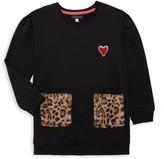 Andy & Evan Little Girl's Faux Fur-Pocket Cotton-Blend Sweatshirt