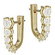 Melissa Kaye Women's Aria 18K Yellow Gold & Diamond U-Huggie Hoop Earrings