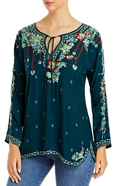 Johnny Was Gemma Embroidered Blouse