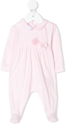 Il Gufo Flower-Embellished Pajama