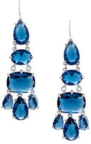 Lauren Ralph Lauren Mad About Hue Silvertone Brass Chandelier Pierced Earrings