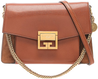 Givenchy Small Leather & Suede GV3 in Chestnut | FWRD