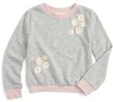 Truly Me Toddler Girl's Floral Applique Sweatshirt