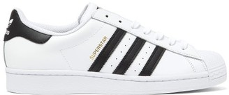 adidas Superstar Leather Trainers - Mens - White Black