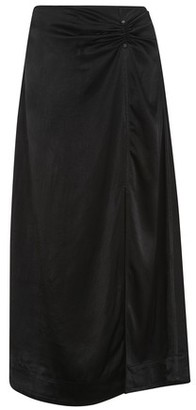 Ganni Heavy satin skirt