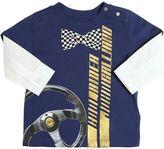 John Galliano Logo Print Cotton Jersey & Poplin Shirt