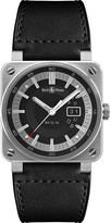 Bell & Ross BR03-96 Grande Date Aviation stainless steel and leather watch