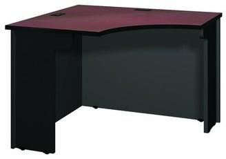 Ironwood Modular Reversible Corner Desk Color: Black Granite / Black