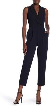 Iconic American Designer Crepe Tuxedo Jumpsuit