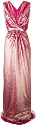 Rhea Costa ruched velvet gown