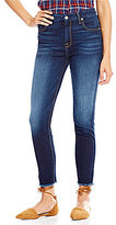 7 For All Mankind High Waist Ankle Skinny Raw Hem Jeans