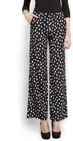 Polka-dots wide trousers