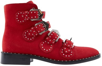 Givenchy Red Suede Boots