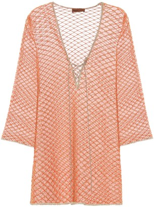 Missoni Mare Metallic knit kaftan