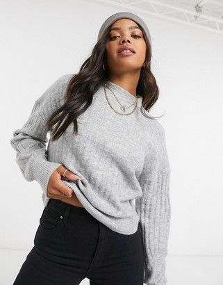 Cotton On Cotton:On ribbed crew neck jumper in grey