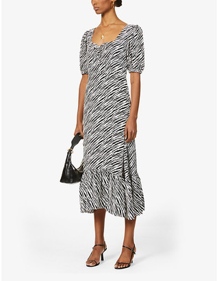 Faithfull The Brand Gabriela animal-print woven midi dress