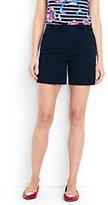 "Lands' End Women's Petite Not-Too-Low Rise 5"" Chino Shorts-Warm Khaki"