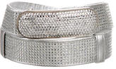 Judith Leiber Metallic Crystal-Embellished Belt