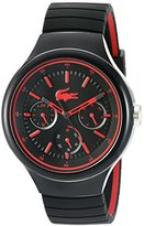 Lacoste Men's 'Borneo' Quartz Resin and Silicone Casual Watch, Color:Black (Model: 2010868)