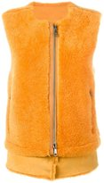Giorgio Brato zip-up gilet - women - Sheep Skin/Shearling - 40
