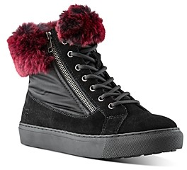 Cougar Women's Danica Waterproof Rabbit Fur Sneakers