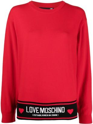 Love Moschino Fine Intarsia Logo Knit Jumper