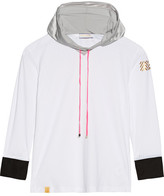 Monreal London Perforated Stretch-jersey Hooded Top - White