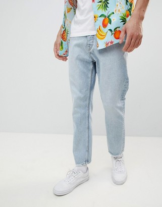 Cheap Monday In Law Tapered Jeans Pixel Blue