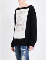 Vivienne Westwood Writing-print Knitted Wool Jumper