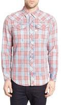 G Star Men's Tacoma Trim Fit Plaid Western Shirt