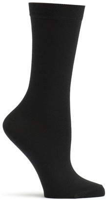 Ozone Women's Pima Cotton Mid Zone Sock Black 9-11