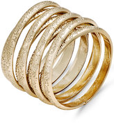 Thalia Sodi Gold-Tone Textured Coil Ring, Only at Macy's