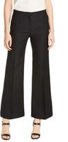 Valentino Wool & Silk Straight Leg Ankle Pants