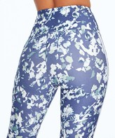 "Marika Women's Active Pants CROWN - 27"" Crown Blue Chopped Floral Pocket Jessica Track Leggings - Women"