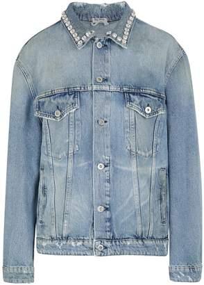 Miu Miu Jewel collared denim jacket