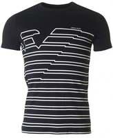Armani Jeans Rubberised Eagle Crew Neck T-shirt
