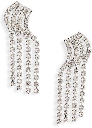 CRISTABELLE 4-Row Linear Crystal Earrings