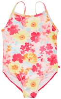 Nautica Girls' Watercolor Floral Swimsuit (8-16)