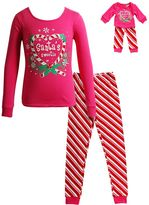 Dollie & Me Girls 4-14 Santa's Sweetie Pajama Set