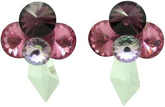 One Kings Lane Vintage 1980s Pink & Purple Rhinestone Earrings - Thanks for the Memories