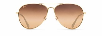 Maui Jim Sunglasses | Mavericks H264-1615 | Gold Lifestyle Frame Frame Polarized Hcl Bronze Lenses with Patented PolarizedPlus2 Lens Technology