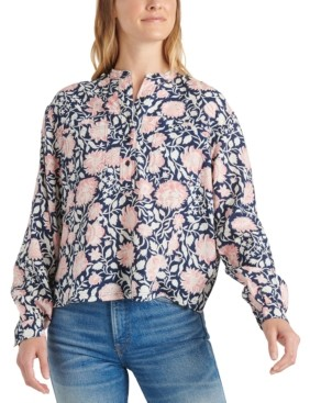Lucky Brand Paisley Pop-over Top