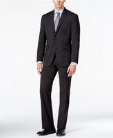 Kenneth Cole Reaction Men's Slim-Fit Techni-Cole Charcoal Micro Check Suit
