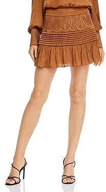 Ramy Brook Denali Embroidered Mini Skirt
