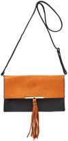 Kathy Ireland Black & Brown Color Block Crossbody Bag