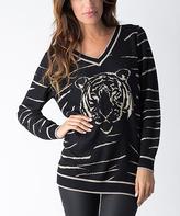 Yuka Paris Black & Gold Tiger Sweater