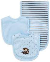 Little Me Infant Boys' Monkey Bib & Burp Cloth Set