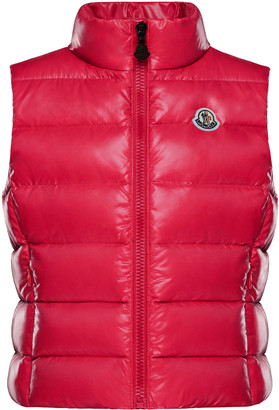 Moncler Ghany Quilted Zip-Front Vest, Size 4-6