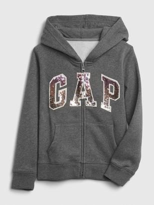 Gap Kids Flippy Sequin Logo Hoodie
