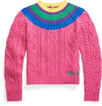 Ralph Lauren Aran-Knit Fun Jumper